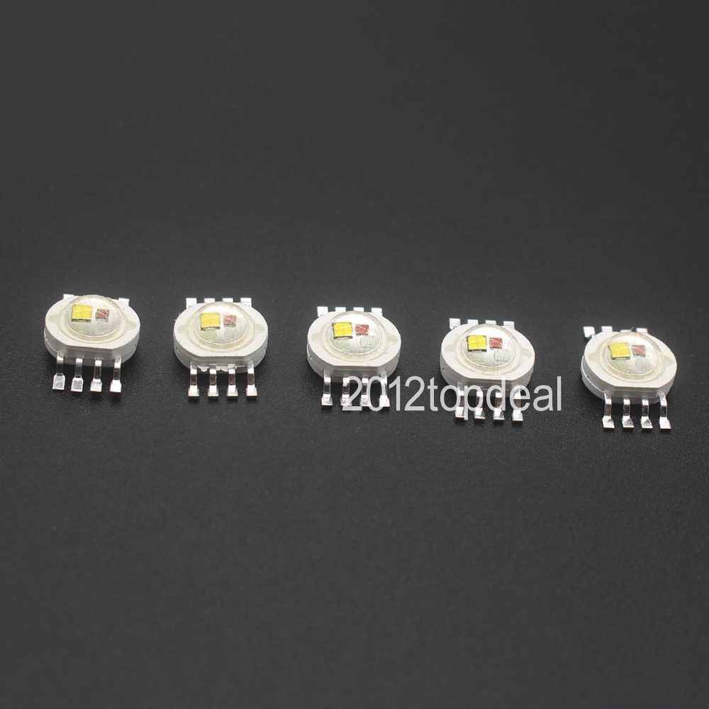 10 sztuk RGBW (RGB + W + Y + UV) 6 W, 9 W, 12 W, 15 W, 21W diody LED emiter diody do oświetlenia scenicznego wysoka dioda LED dużej mocy 45mil LED epistar Chip