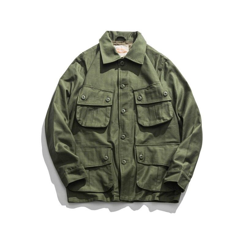 Erkek Kıyafeti'ten Ceketler'de Üreme WW2 ABD Airborne M42 Tulum Ceket Paraşütçü Askeri Üniforma'da  Grup 1