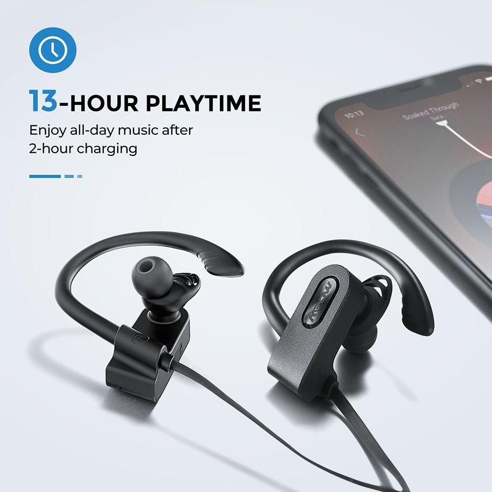 Mpow Flame 2 Bluetooth 5.0 Earphone IPX7 Waterproof Wireless Headphone With 13 Hours Playtime Noise Canceling Mic Sport Earphone (3)