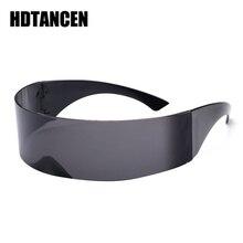 HDTANCEN Funny Futuristic Wrap Around Monob Costume Sunglasses Mask Novelty Glas