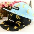 Высокое качество фрукты банан ананас персик печать крышка мода burisil письмо хип-хоп детей бейсболку бренд snapback для детей