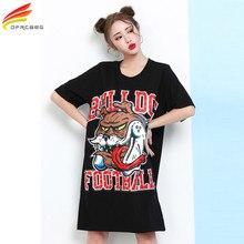Woman Dress 2017 Summer Dress Half Sleeve Rivet Tshirt Dress Ukraine Style Loose Vestido Midi Plus
