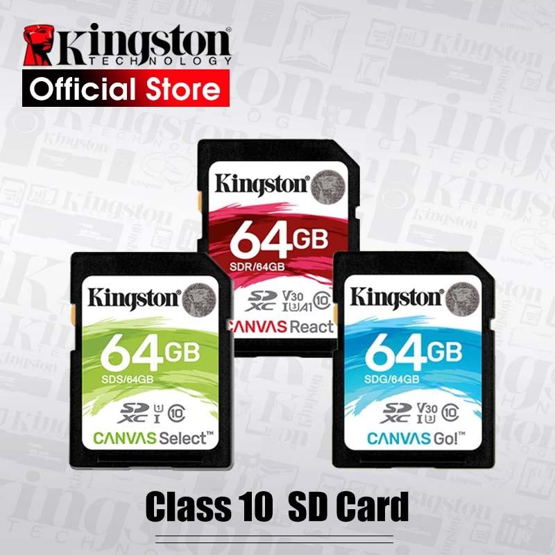 Kingston 128GB SD Card 16GB memory card Class10 64GB cartao de memoria SDHC SDXC USH-I HD video 32GB carte sd For Camera 256GB