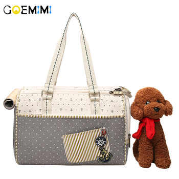Brand New Pet Dog Canvas Carrier Portable Sailor pattern Puppy Outdoor Bag Top Quality Breathable Handbags For Cat - DISCOUNT ITEM  34% OFF All Category