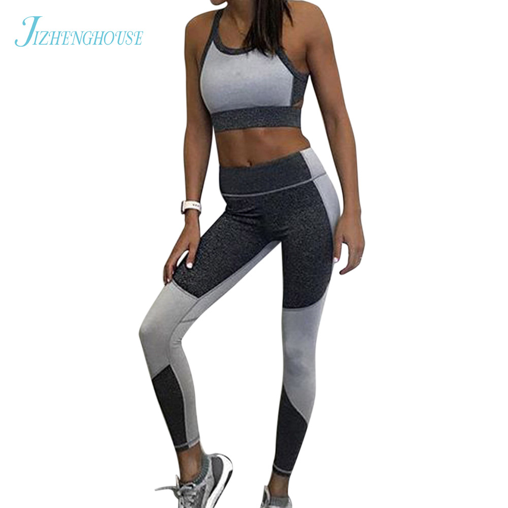 JIZHENGHOUSE Patchwork Leggings Fitness Pants Trousers Elasticity Women Sexy Leggings