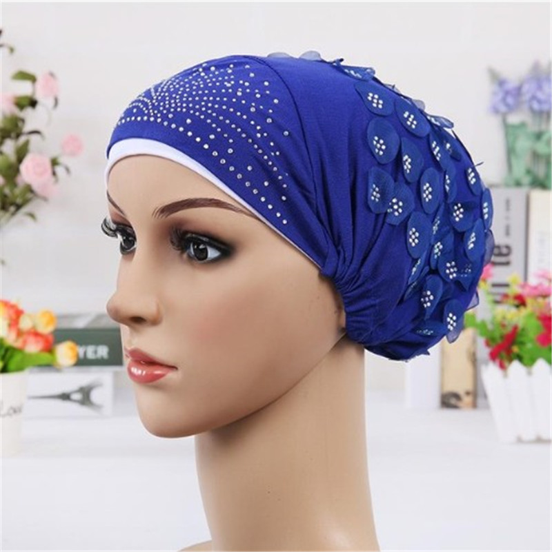 Womens Turban Hat, Soft chemo hat with flowers, India Cap Muslim hat Women Head Wrap Hijab Cap pastoralism and agriculture pennar basin india