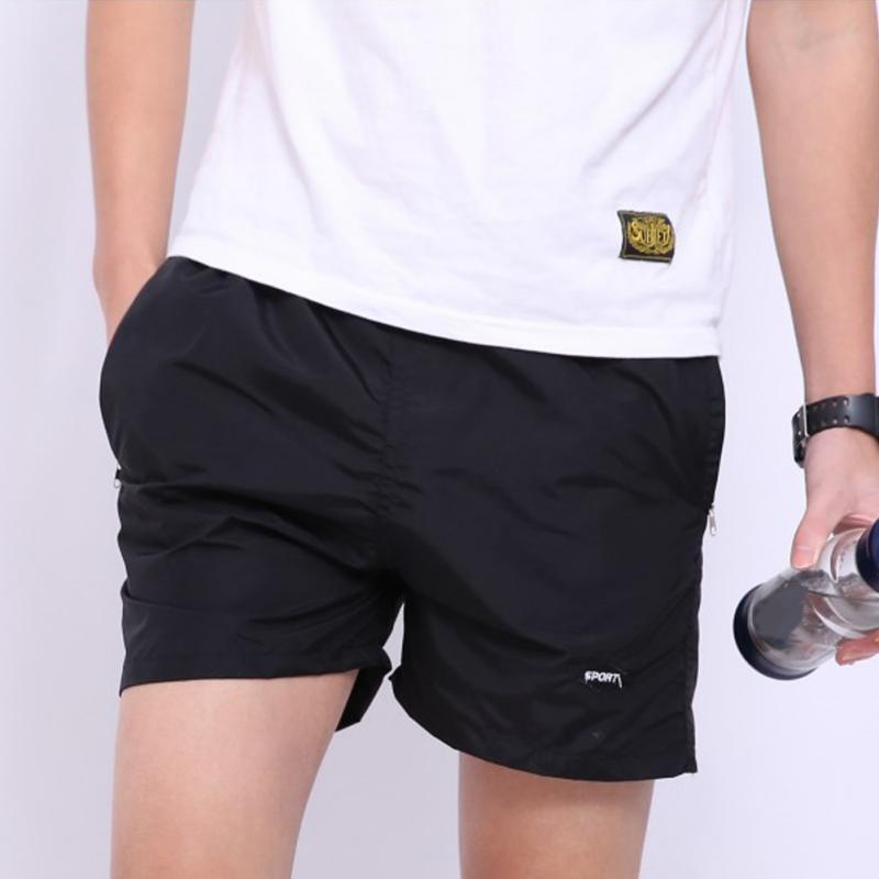 Summer Beach Men Solid Color Cargo Shorts