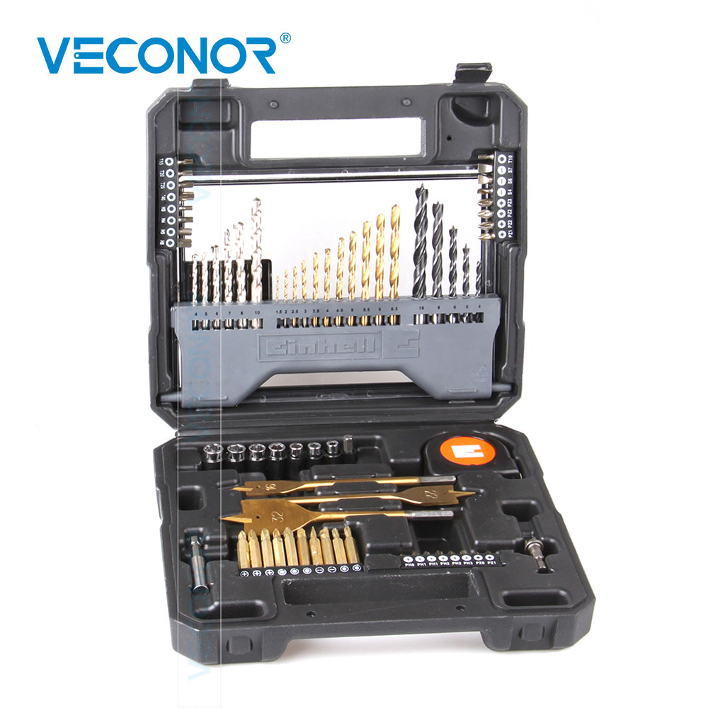 70pcs Combination Twist Drill Concrete Drill Screwdriver Bits Sockets Kit Set