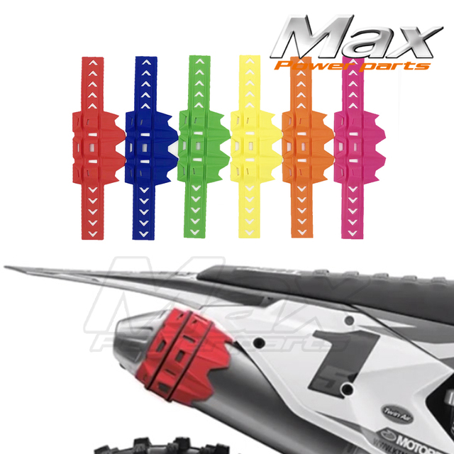 US $8 13 |Acerbis Muffler Exhaust Silencer Protection Cover Protector fit  Husqvarna KTM Motocross Dirt Bike Parts dropshipping suppliers-in Covers &