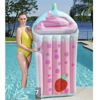 190cm Giant Drink Cup Inflatable Pool Float 2019 Newest Lie on Lounger Floating Raft for Children Adult Swimming Ring Party Toys