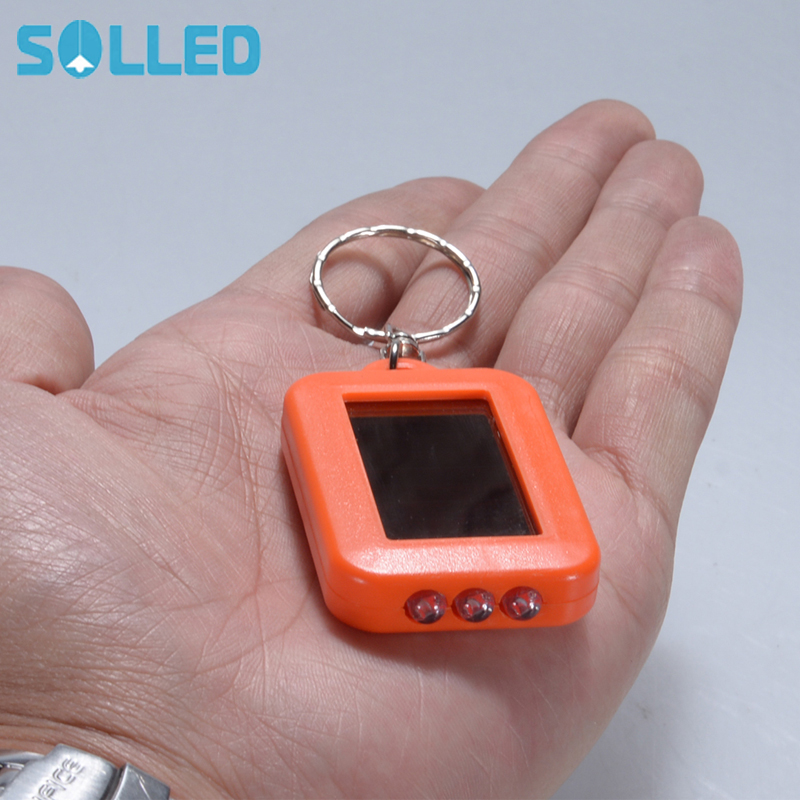 SOLLED Mini LED Flashlight Keychain Portable Keyring Light Torch Key Chain 45LM 3 Modes Emergency Camping Lamp backpack light