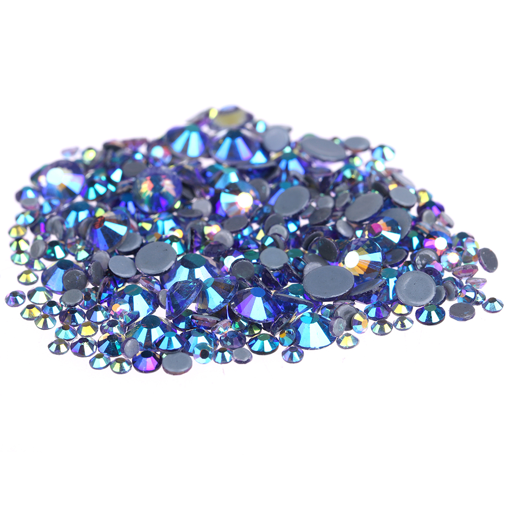 Nail Art Decorations Crystal Hotfix Rhinestones Black Diamond AB Flatback Strass Round Glass Iron On Diamonds For Craft Garments ab rhinestones for nails glass mix size clear strass nail art decorations 3d nail rhinestones on nails art manicure mjz00280