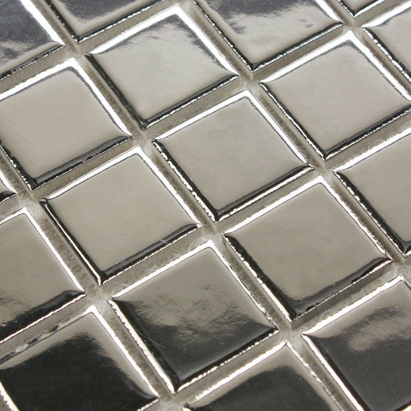Porcelain Tiles Floor Tile Sheets Plating Slip Mosaic Bathroom Wall Mirror Tiles Backsplash