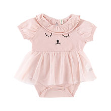 143af9a1c Newborn Infant Baby Girls Clothes Summer Sleeveless Bodysuit Pink Ruffles  Jumpsuit Outfits Cute Animal Girls Sunsuit