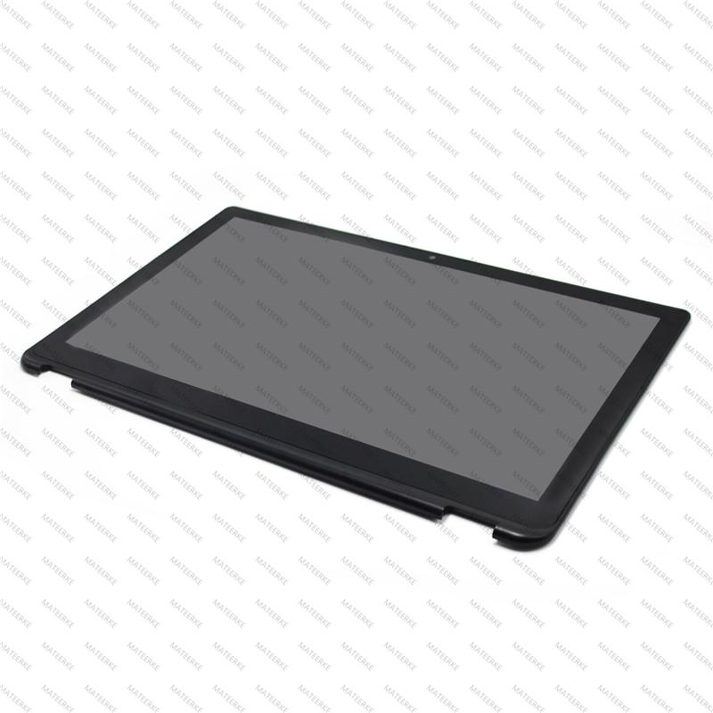 LCD Touch Screen + Frame LP156WF5(SP)(A2) For Toshiba Satellite Radius P55W-B Series P55W-B5114 P55W-B5318 P55W-B5112