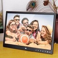 Dijital Fotoğraf Çerçevesi Elektronik Albümü 15 Inç 1280*800 Ön Dokunmatik Düğmeler Çoklu dil LED Ekran Resimleri Müzik Video