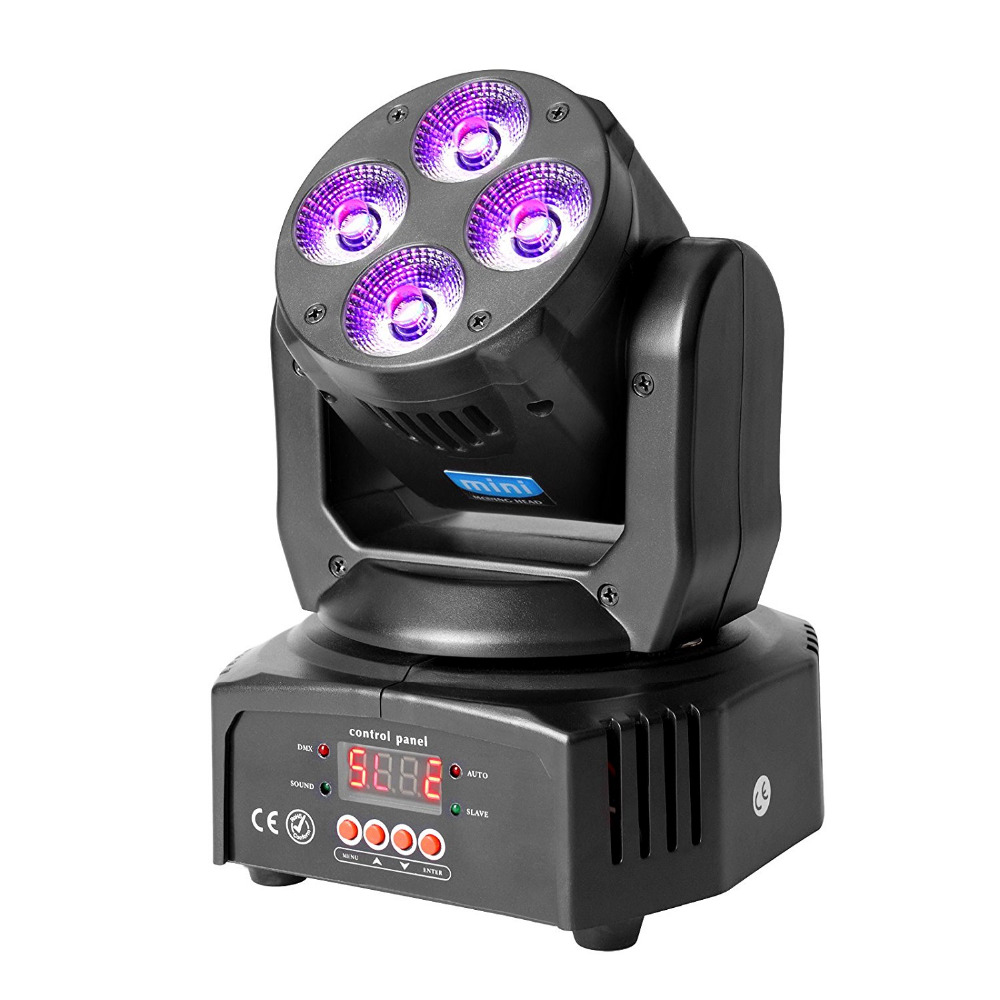 TSSS Mini Moving Head Par Beam light 35W RGBW DMX Led DJ Stage Show Effect Wedding Lighting 16CH for Dance Floor, Club, Party niugul mini 10w rgbw 4in1 led moving head dmx512 light led beam spot lighting show disco dj laser light christmas party lights