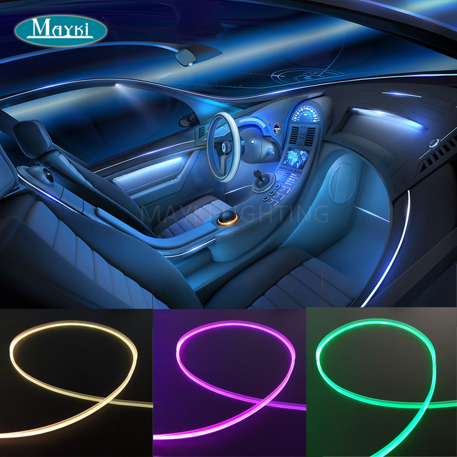 Maykit Dashboard Side Emitting Fiber Optic Lighting Car Optics Mini 1 5w Cree Led Light