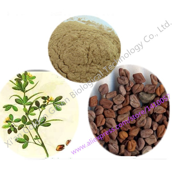 10% Polvo de Extracto de Semillas De Alholva Común 1000g Cremas Para Bajar de Peso