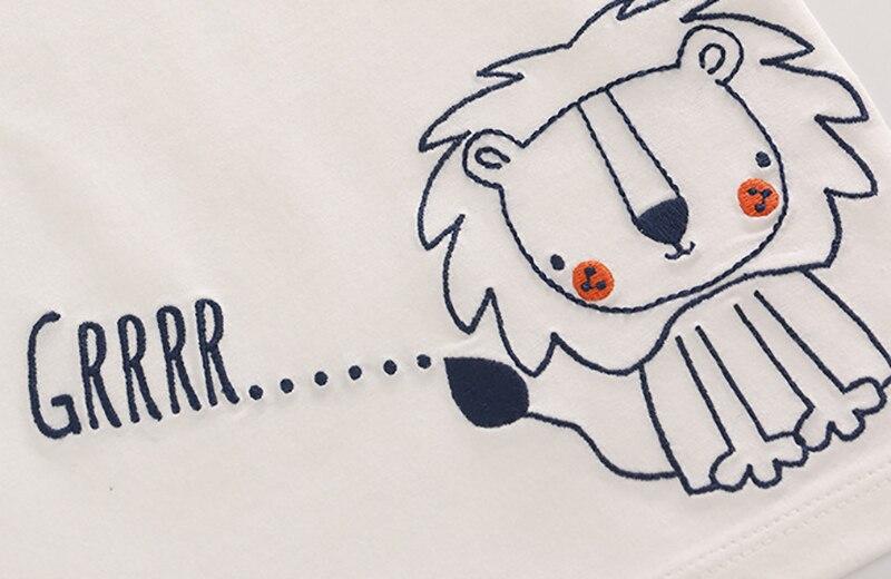 Letnie Dzieciaki Chłopcy T Koszula Korona Druku Krótkim Rękawem - Odzież dla niemowląt - Zdjęcie 4