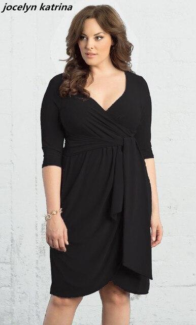 Jocelyn katrina marke Herbst neue stil hot sexy kleid mode tiefem v ...