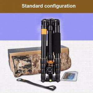 Image 5 - QZSD Q278 professionnel Portable en alliage daluminium appareil photo voyage léger trépied et monopode support avec rotule pour Nikon DSLR