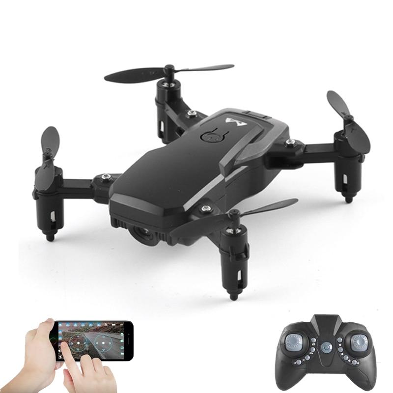 Quadrirotor avec caméra WiFi Mini Drone pliable RC M11 2.4 GHz 6 axes gyroscope WiFi FPV Drone bon choix pour l'entraînement en hélicoptère
