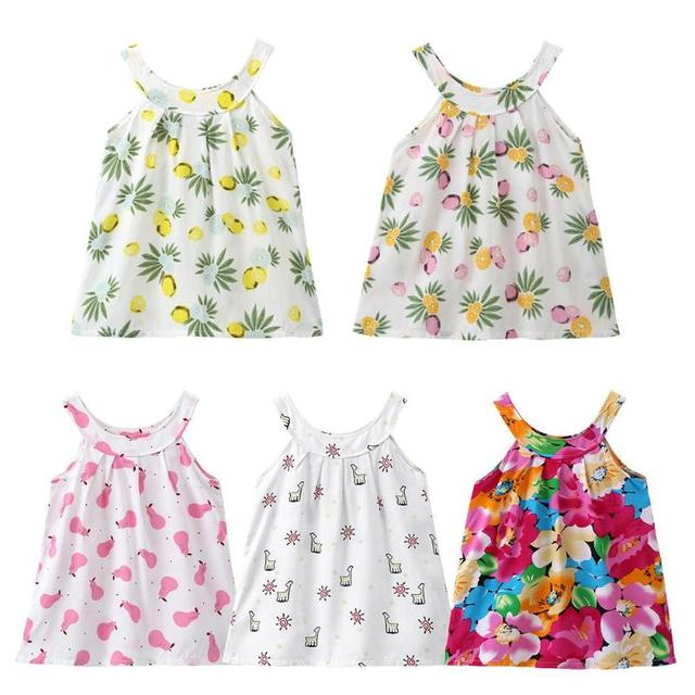 Girl Dresses Floral Girl Dresses Summer Style Children's Clothing Dresses For Girl Vestido Infant Girl Clothes