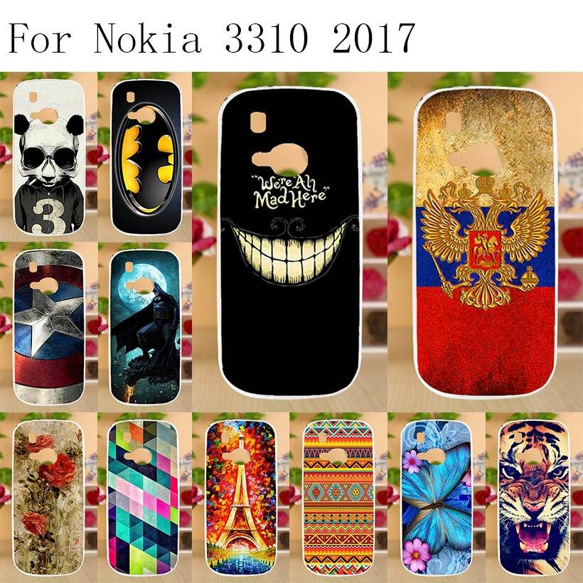 Anunob Case for Nokia 3310 2017 Cover Soft TPU Silicon Cat Animal  Phone Capas Fundas Coque
