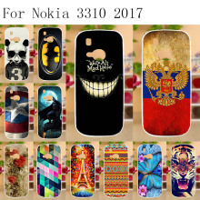 Anunob Case for Nokia 3310 2017 Cover Soft TPU Silicon Cat Animal  Phone Capas Fundas Coque