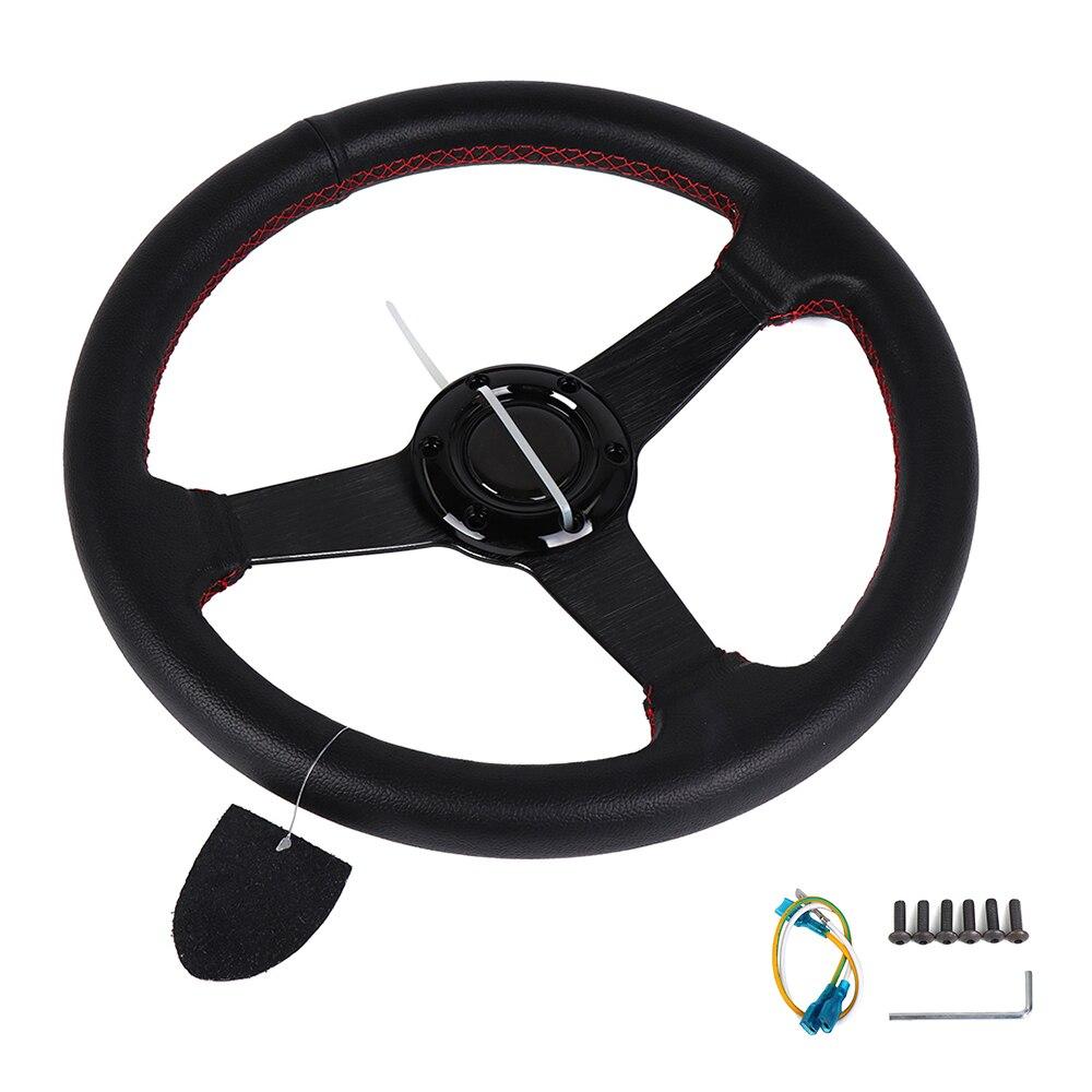Руль в для колеса рулевого управления автомобиля и узлов 335 мм Гонки рычаг ручного тормоза PU + Алюминий универсальный для Mosr автомобилей