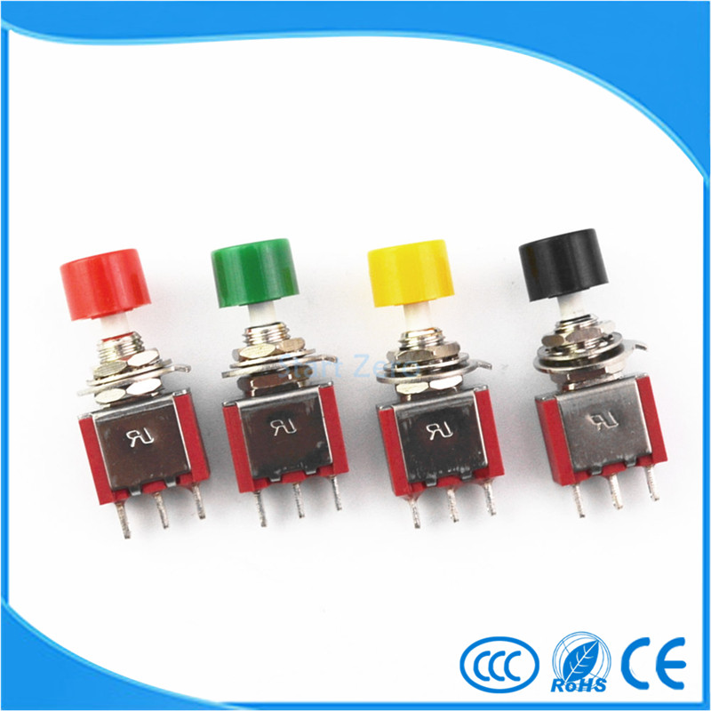 все цены на 10Pcs Red 3Pin C-NO-NC 6mm Mini Momentary Automatic return Push Button Switch ON-(ON) 2A 250VAC/5A 120VAC Toggle Switches онлайн