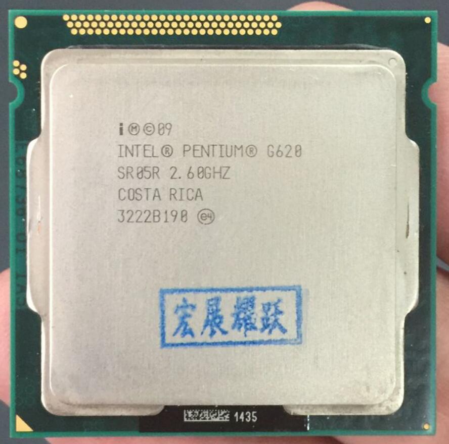 Free Shipping Intel CPU Pentium G620 3M Cache, 2.60 GHz LGA 1155 TDP 65WPC Computer Desktop Dual-Core CPU