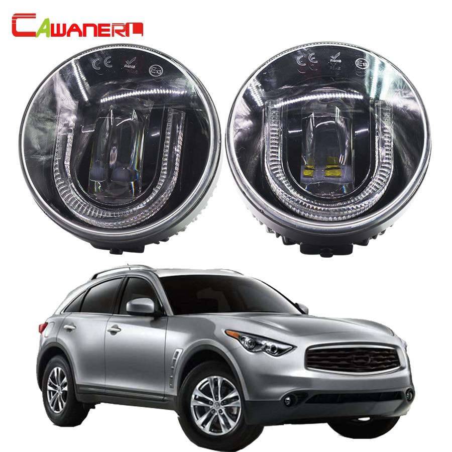 Cawanerl 2 X Car Accessories LED Fog Light DRL Daytime Running Lamp 12V For Infiniti FX35 3.5L V6 2006 2012