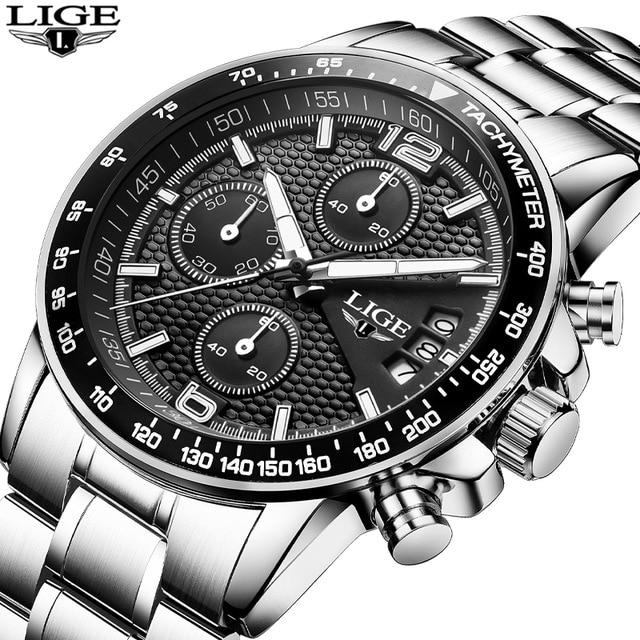 LIGE Reloj para hombre Reloj de cuarzo Reloj Hombre 2016 Reloj - Relojes para hombres