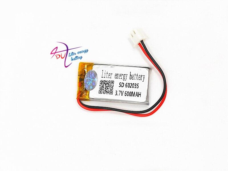 Stromquelle Aus Dem Ausland Importiert Xh2.54 602035 3,7 V 600 Mah Lithium-polymer-batterie Stereo Lautsprecher Massage Schönheit Instrument GroßE Sorten