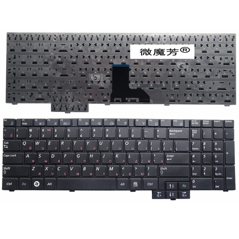 RU noir Nouveau POUR Samsung R528 R530 R540 R620 RV508 R517 R523 R525 Ordinateur Portable Clavier Russe