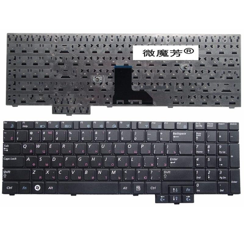 RU أسود جديد لسامسونج R528 R530 R540 R620 R517 R523 RV508 R525 لوحة مفاتيح الكمبيوتر المحمول الروسية