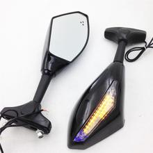 For Motorcycle Honda CBR 600 F4 F4i 900 929 954 CBR1000 125R 150R Blue LED Turn Signal Mirrors