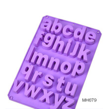 silicone cement concrete alphabet molds 26 small English mould chocolate mold fondant cake resin