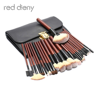 26pcs Brushes For Make Up Cosmetic Tool Set Wool Fiber Horse Hair Wood Handle With High