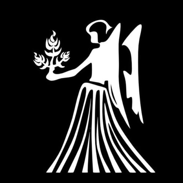 Virgo Woman Zodiac Astrology Sign Vinyl Decal Car Wall Sticker