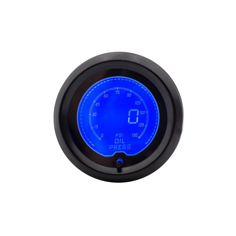 CNSPEED 52mm digitální displej měřič tlaku oleje auto s 7 barevným LCD světlem auto auto měřič tlaku oleje manometr / XS100113