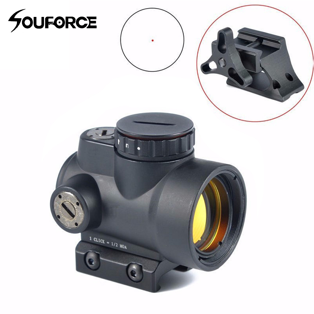 1x25mm Black Color MRO Style Red Dot Sight Holographic Sight Airsoft Black Low Mount & QD Tactical Rifle Scope 556 a sight style holographic red