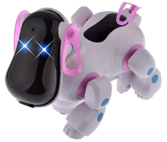Симпатичные Смарт Робот Электронный Прогулки Pet Сторожевая Собака Щенок Juguetes Игрушки с Музыкой и Светом для Детей Kids