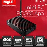 RED Edition MeLE PCG35 Apo Fanless Windows 10 Mini PC Desktop 4GB 32GB Intel Apollo Lake