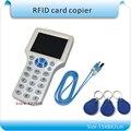 Бесплатная доставка 9 частота Ужин RFID NFC Копир ID/IC Читатель Writer/копировать UID Sector0 зашифрованные + 10 шт. 125 КГЦ + 10 шт. 13.56 МГЦ