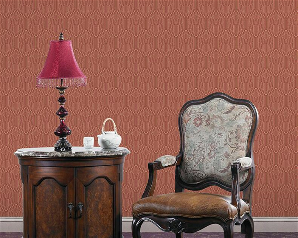 beibehang wallpaper New Chinese non-woven wallpaper living room study TV background wall office hexagon pattern wallpaper 3Dbeibehang wallpaper New Chinese non-woven wallpaper living room study TV background wall office hexagon pattern wallpaper 3D