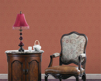 beibehang wallpaper New Chinese non-woven living room study TV background wall office hexagon pattern 3D