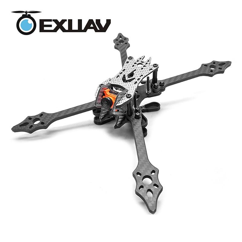 EXUAV VX220 220 wheelbase 5mm Arm Carbon Fiber Racing Drone Frame With Flytower Pro F3/F4 for RC FPV Quarotor /DIY Toys 77g exuav gep mark 1 210mm wheelbase 5inch propeller carbon fiber racing drone frame for rc fpv quadcopter support runcam camera